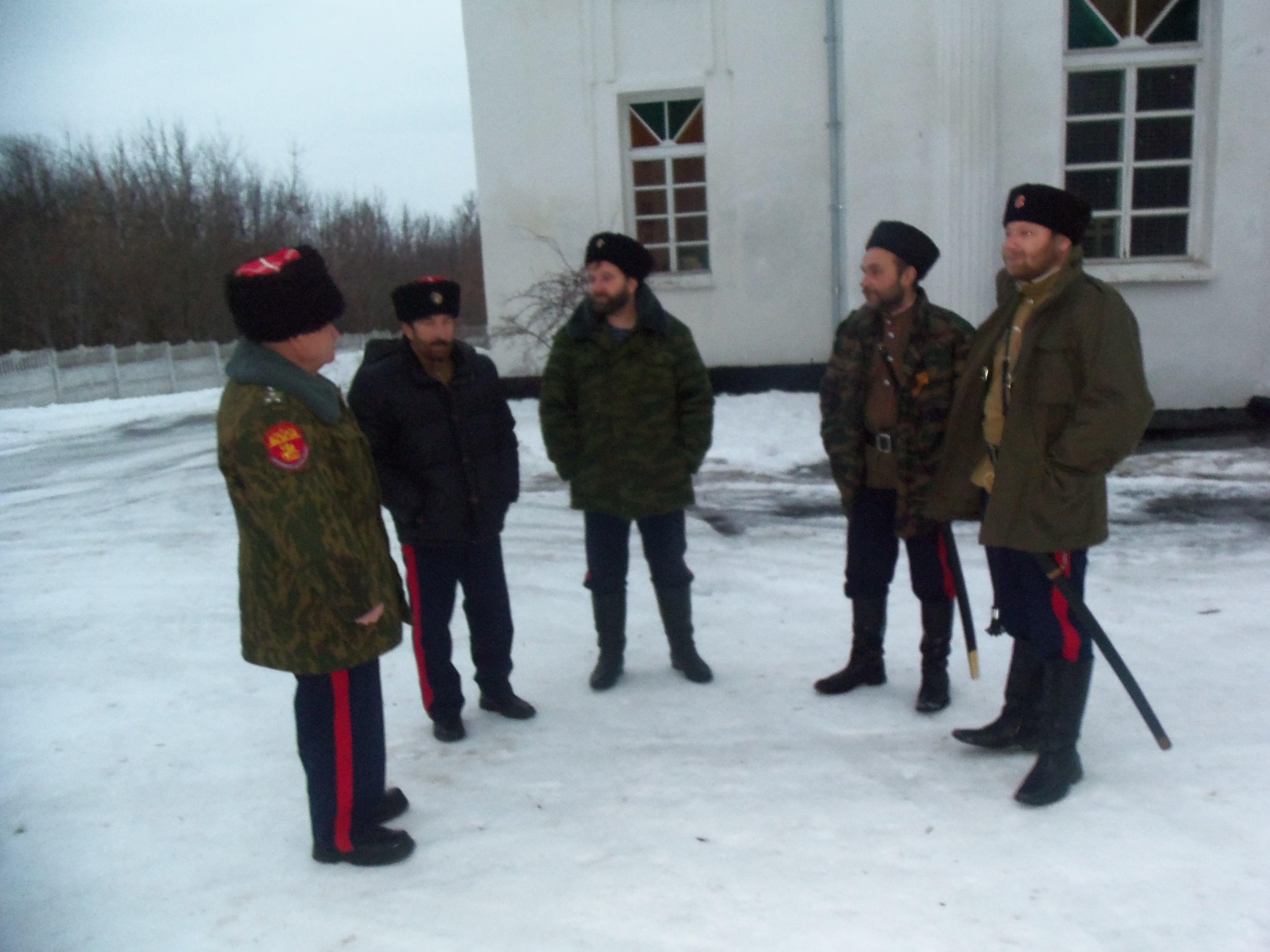 г.Новосиль. Приезд еп. Нектария.  14 января 2015г.
