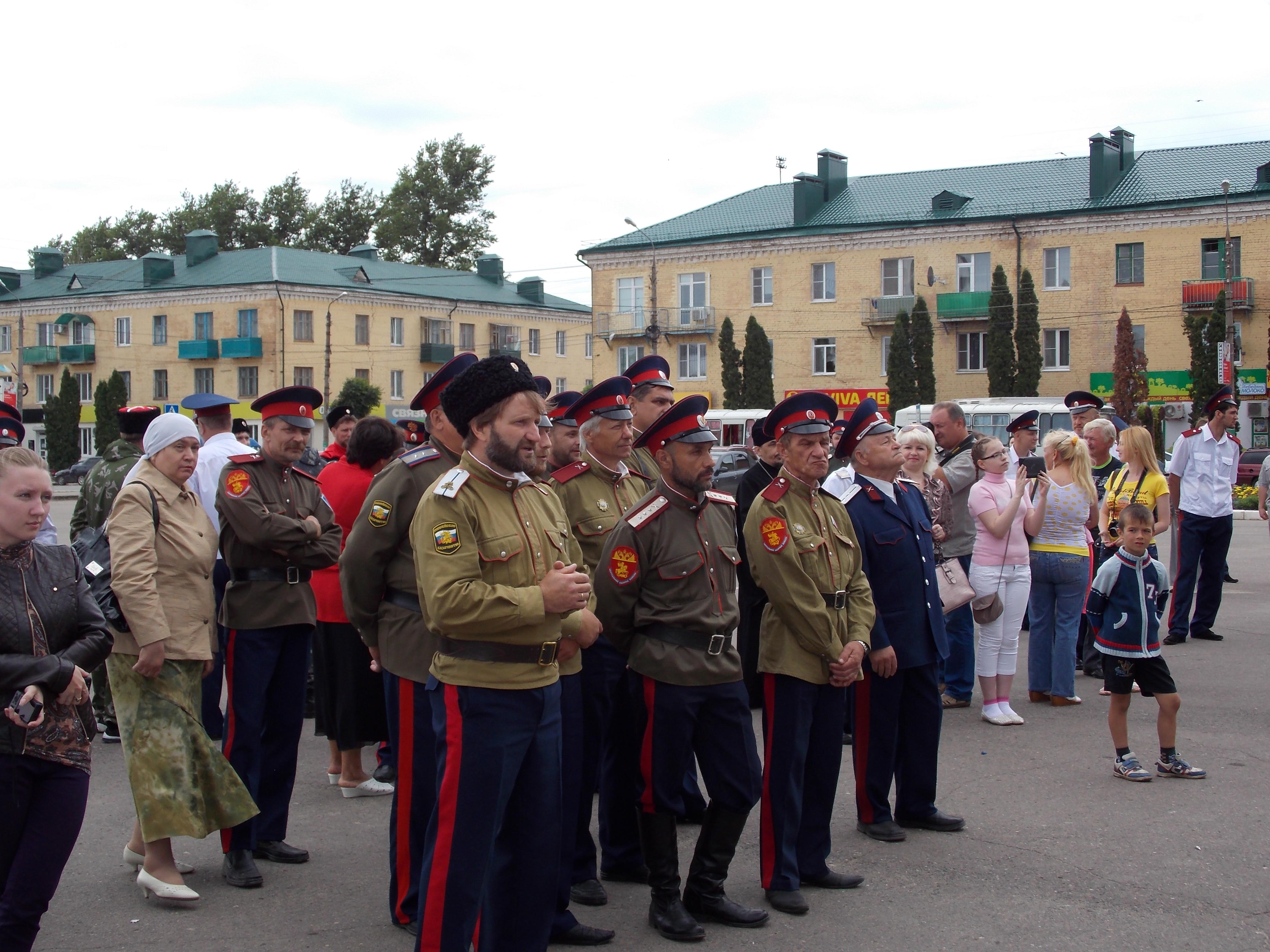 31 мая 2014г. г.Мценск. Строевой смотр казачьих подразделений.