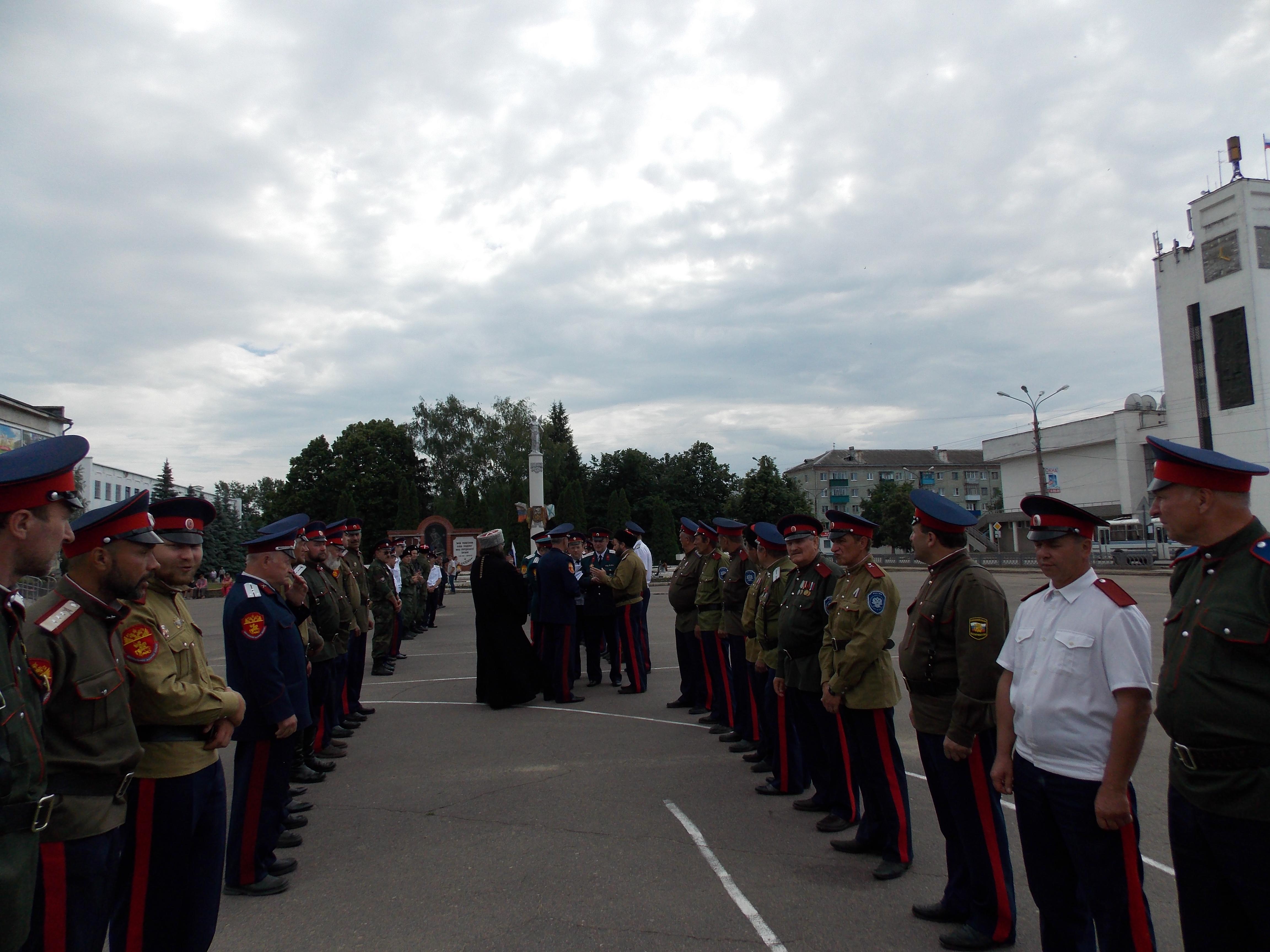 31 мая 2014. г.Мценск. Строевой смотр казачьих подразделений.